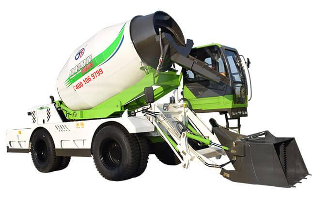 自动上料搅拌车清理内部混凝土的方法!